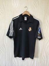 REAL MADRID 2001 2002 AWAY FOOTBALL SHIRT SOCCER JERSEY ADIDAS BLACK