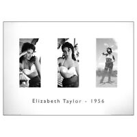 Elizabeth Taylor 3 Poses Fine Art Print. Hollywood Movie Actress 50cm x 40cm