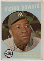 1959 Topps #395 Elston Howard VG- New York Yankees FREE SHIPPING