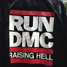 Vtg Run Dmc 1986 'Raising Hell Tour' Satin Concert Jacket size Large