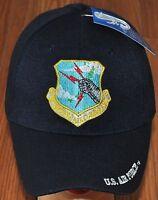 Blue US Air Force Strategic Air Command Hat Baseball Ball Cap Military Veteran