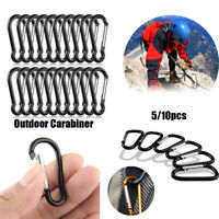 Safety Alloy Carabiner Camping Hiking Hook Buckle Keychain Climbing Button
