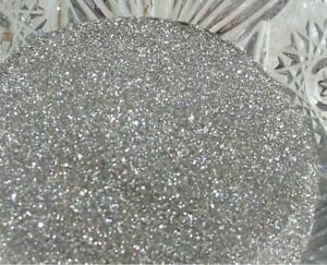 Real German GLASS GLITTER Fine Pure Silver 1 Ounce 90 Grit