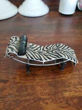 Rare Raine Take A Seat Miniature Vintage Zebra Chaise Lounge Doll Furniture
