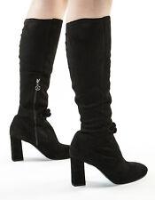 Authentic Fabi  Suede Italian Designer Boots Black New 6,7,8,10,11