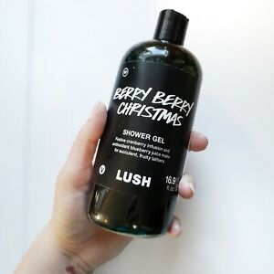 LUSH BERRY BERRY Christmas Shower Gel 16.9oz (Best By Jan 2019) RARE new sealed