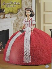Annie's Attic Southern Belle Fashion Bed Doll Crochet Pattern Holiday Dress