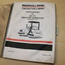 Ir Ingersoll Rand Dd 110 Compactor Parts Book Manual Catalog Spare Drum Roller