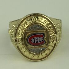 1930 CH Coupe Stanley Cup Champions NHL Men's Gold Tone Replica Fan Ring