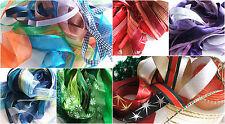 10 x 1m Ribbon  trimming bundle assortment - mixed widths - colour choices