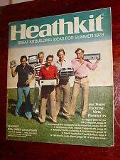 Vintage 1978 HEATHKIT Catalog amp stereo radio ham test equipment