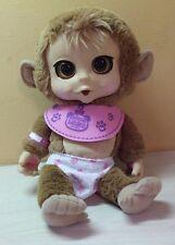 "Animal Babies Nursery Baby Monkey Laughs Giggles Sucks Thumb Plush 14"" toy"