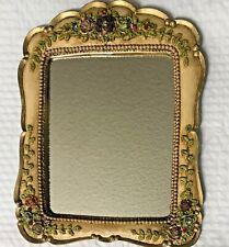 Victorian Mirror Wall Hanging With Swarovski Rhinestones Floral Gorgeous Mirror