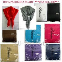 New Soft Classic 100% Pashmina Shawl Scarf Stole Wrap Have 20 Different Colors