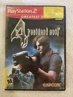 Resident Evil 4 ~ Greatest Hits ~ CIB ~ Complete (Sony PlayStation 2, PS2)