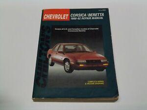 Chilton's Chevrolet Corsica/Beretta 1988-92 Repair Manual.