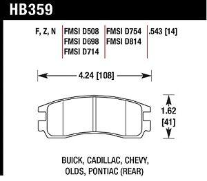 Hawk Performance HB359F.543 Virtually Noise-Free Disc Brake Pads