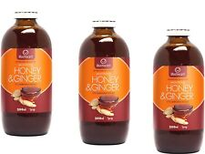 3 x 200ml LIFESTREAM Life Stream Warming Honey and Ginger Syrup 600ml