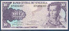 VENEZUELA.BILLET de BANQUE 10 BOLIVARES Pick n° 57 du 29.1.1980 en SUP A78484307