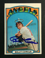 Billy Cowan Angels signed 1972 Topps baseball card #19 Auto Autograph 1