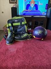 Men's 15lb. Storm  Zero Gravity Bowling Ball With Bag And Shoes Size 11