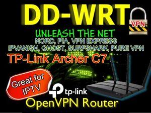 TP-Link Archer C7 AC1750  OpenVPN WIFI Cable VPN Router DDWRT.