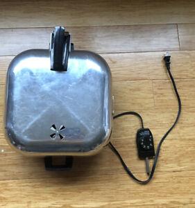 Vintage Aluminum Sunbeam Electric Broiler Cover Frypan Skillet