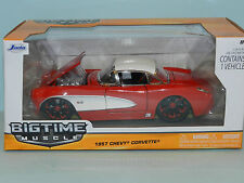 Jada 1/24 1957 Chevy Corvette Red/White Flash & Roof MiB
