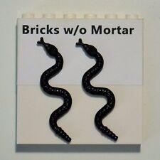 New Genuine LEGO Black Snake Lot of 2 Animal