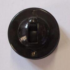 Crabtree Vintage Retro 1 Way 10Amp Brown Bakelite Ceramic Base 60mm Round Switch
