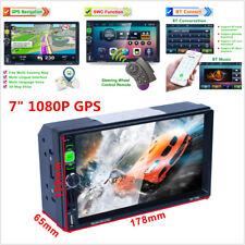 "2Din 7"" Car Bluetooth GPS Nav Radio MP5 Player Audio Dash+Steering Wheel Control"