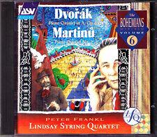 LINDSAYS: DVORAK MARTINU Piano Quintet PETER FRANKL Lindsay String Quartet CD