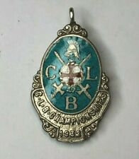 More details for church lads brigade championships medal  fob 1932 solid silver & enamel