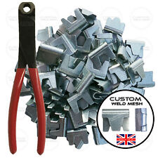 More details for gabion baskets clips & pliers galvanised wire mesh clips fencing cages *uk *