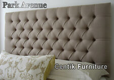 BED HEAD SUPER KING DIAMOND BUTTONED UPHOLSTERED BEDHEAD HEADBOARD