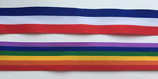 REEL CHIC 25mm RAINBOW OR TRI COLOR RED / WHITE / BLUE FAILLE RIBBON