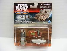 Star Wars Micro machines 3 PACK The Force Awakens SPEEDER CHASE, hasbro 2015