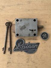 SAFE LOCK RARE RATNER Plus PLAQUE 2 Keys