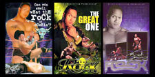 THE ROCK Dwayne Johnson Posters WWE Vintage 2000 Original 3-POSTER COMBO