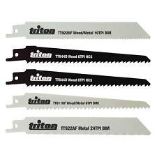 Triton Reciprocating Saw Blade fits Bosch DeWalt Makita Mixed Set 5 Blades