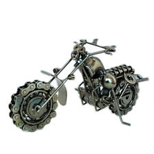 "10"" handmade motorcycle scrap metal art scale model Retro Iron Crafts chain"
