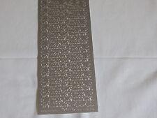 2 Bögen /stück Sticker bogen Frohe Weihnachten SILBER schrift basteln karten 455
