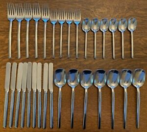 Vintage Mikasa Pattern DUNE 18//8 Stainless Japan Flatware 5pc Place Setting NEW