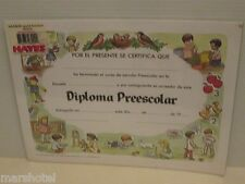 Spanish Language Preschool Diploma Prescolar Award School Supply Deal Of 5