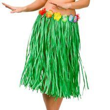 Long Natural Hula Girl Grass Skirt Beach Party Ladies Hawaiian Fancy Dress 44589