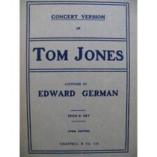 GERMAN Edward Tom Jones Opéra Chant Piano 1908 partition sheet music score