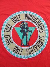 NOS Vintage '90 HIKE HOOD RIVER OREGON Vacation Souvenir Red SS T Shirt Size XL