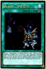 DRACO FACE OFF Yugioh MINT Rare Card Premium GOLD Infinite 1st PGL3-EN090