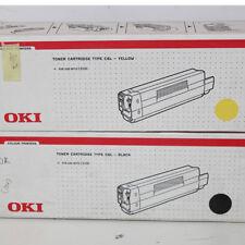 Toner OKI originale per stampante C6L - Yellow + Nero per C3100 Cartridge giallo