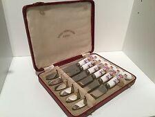 VINTAGE Set 6 in scatola Royal Crown Derby BONE CHINA Tea COLTELLI-DERBY FIORELLINI